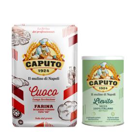 Caputo Cuoco włoska mąka 1kg x 9 + drożdże