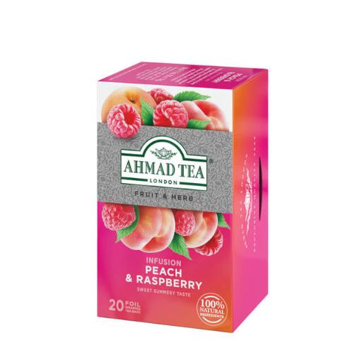 Ahmad Peach & Raspberry 20 saszetek