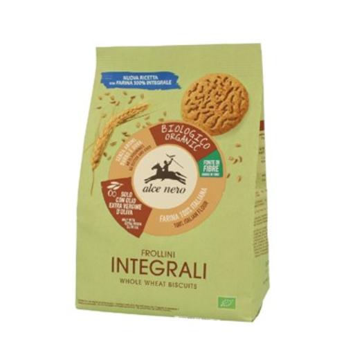 Alce Nero Frollini Integrale - herbatniki pełnoziarniste BIO 350 g