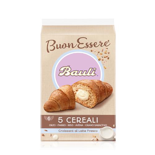 Bauli Croissant 300 g rogaliki 5 zbóż z kremem mlecznym 6 sztuk