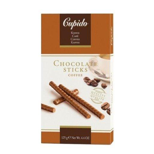 Cupido Chocolate Sticks Coffee - czekoladowe paluszki 125g