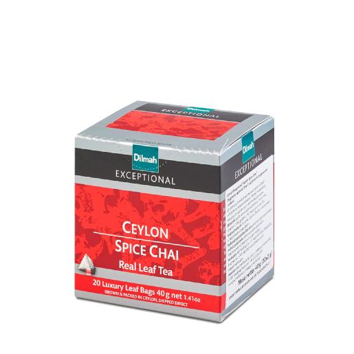 Dilmah Ceylon Spice Chai - 20 piramidek z herbatą