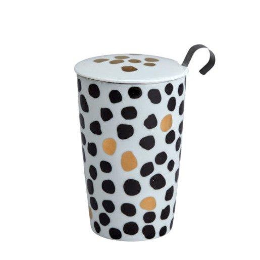 Eigenart Black & White - kubek z zaparzaczem