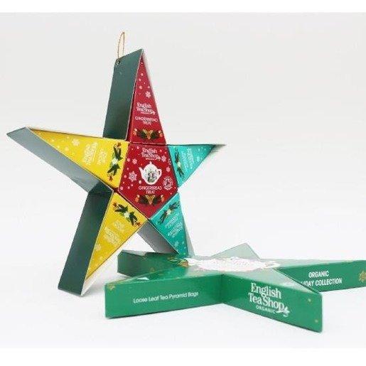 Holiday Collection Green Star gwiazdka 6 piramidek