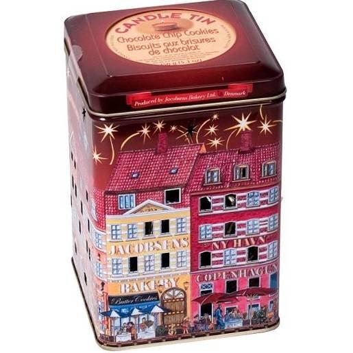 Jacobsens Candle Tins duńskie ciastka puszka lampion 150g
