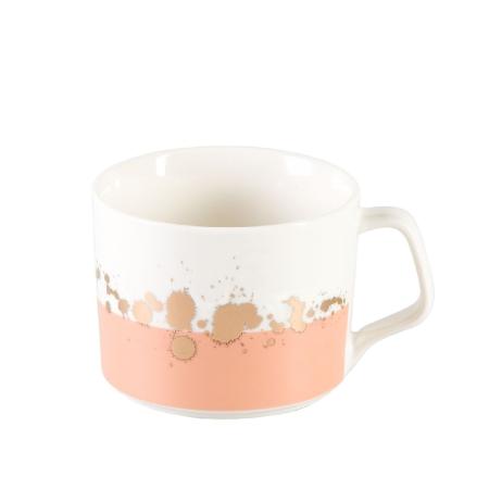 Kubek ceramiczny Brzoskwiniowy Alcinda 350 ml