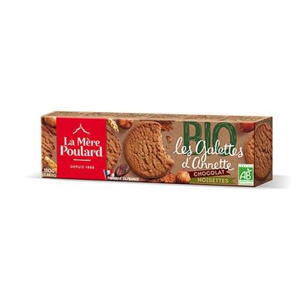 La Mere Poulard Les Galettes D'Annette BIO - francuskie ciastka czekoladowo-orzechowe 110g