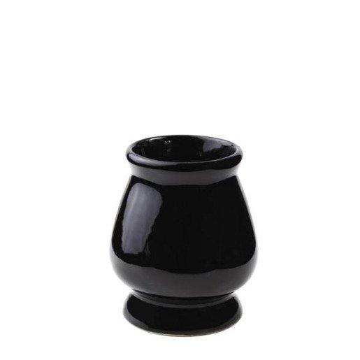 Matero Ceramiczne czarne w kształcie kielicha do yerba mate