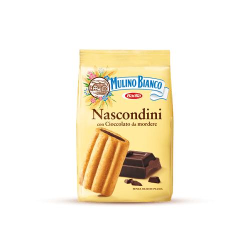 Mulino Bianco Nascondini ciastka nadziewane czekoladą 600 g