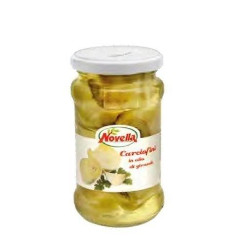 Novella Carciofini in olio di girasole - 314 ml karczochy serca