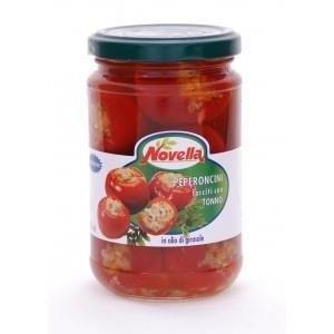 Novella Peperoncini Farciti Tonno - Papryczki Pepperoni nadziewane tuńczykiem 1062 ml