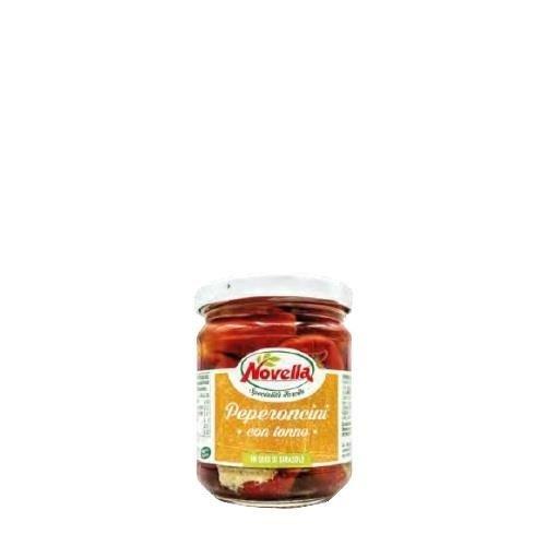 Novella Peperoncini Tonno - 212 ml papryczki z tuńczykiem