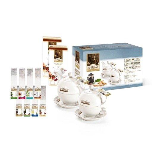 Sir William's 2 dzbanki duo - zestaw upominkowy z herbatą