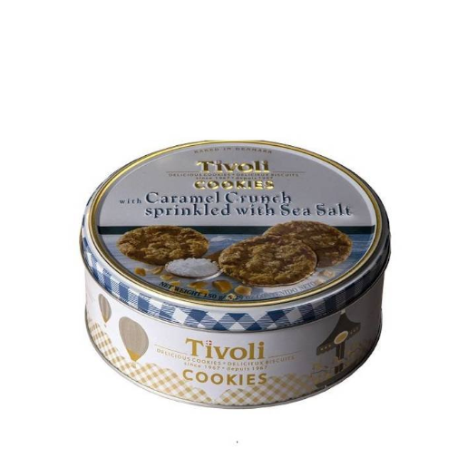 Tivoli - duńskie ciastka z chrupkami karmelowymi i solą morską 150g