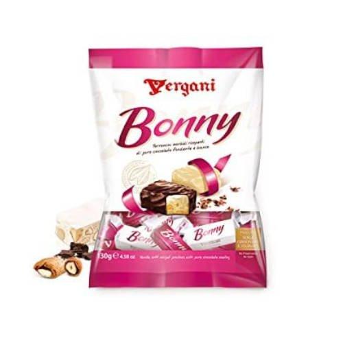 Vergani Torroncini Bonny 130 g - nugat z migdałami w czekoladzie