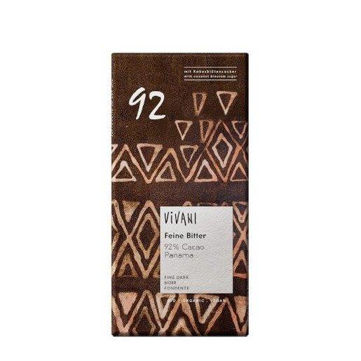 Vivani Feine Bitter 92% Cacao Panama - czekolada gorzka 80g