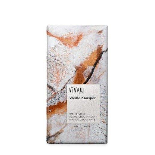 Vivani WeiBe Knusper - czekolada biała z chrupiącym ryżem BIO 100g